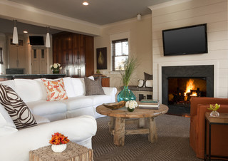 J. BROWN CONTRACTORS beach-style-family-room