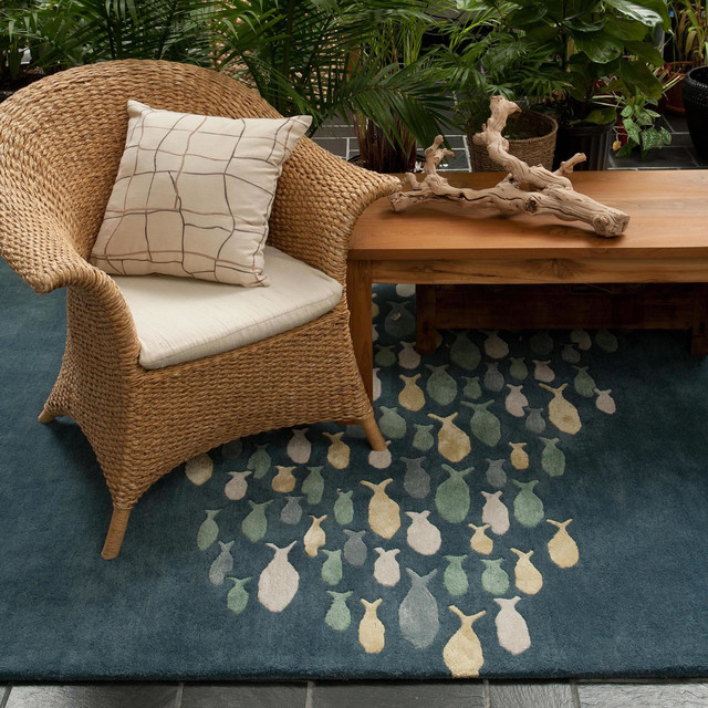 Jaipur Rugs Coastal Living Hand-Tufted Collection beach-style-family-room