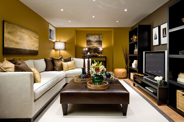 jane lockhart basement family room - modern - family room