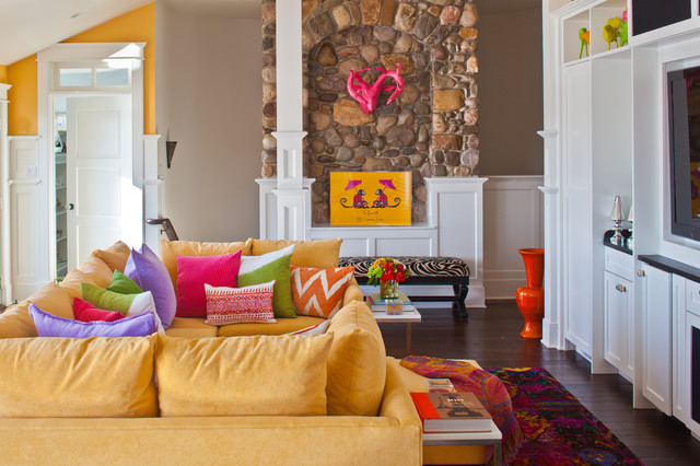 Yellow Couch | Houzz