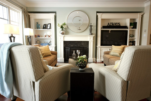 traditional family room by Jennifer Brouwer