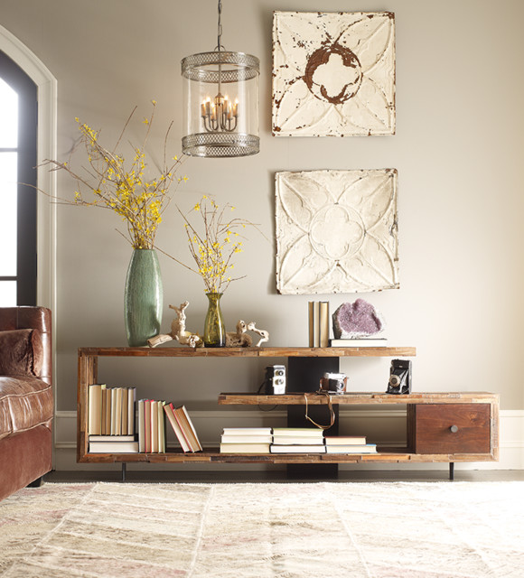 Elegant Jonah Reclaimed Wood TV Console Table Country Family And Games Room