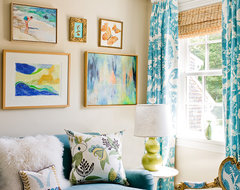 Katie Rosenfeld Interiors transitional family room