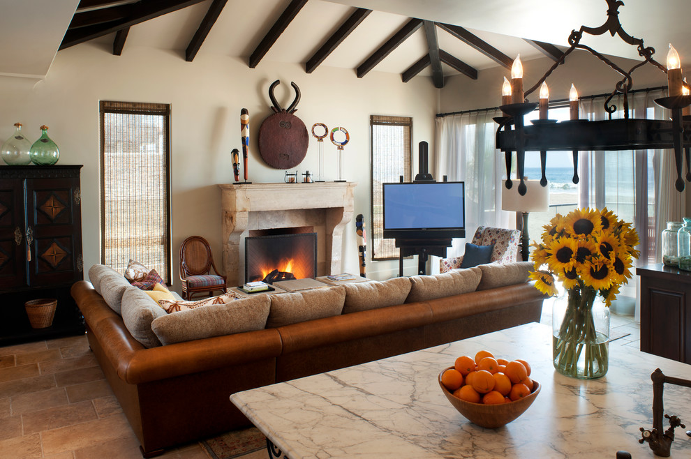 Inspiration for a family room remodel in Los Angeles