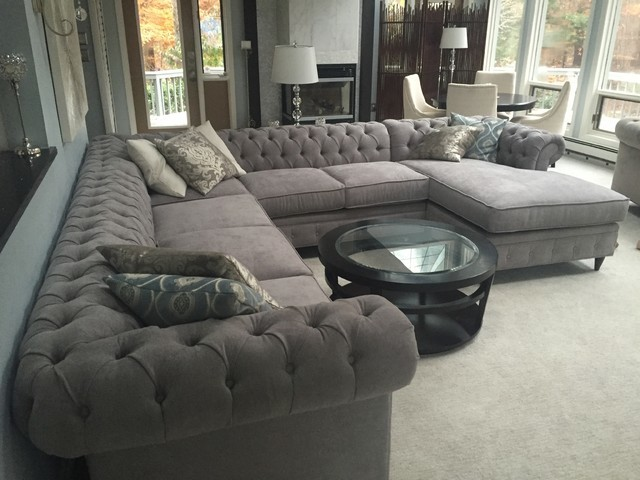 Incroyable KENZIE STYLE   Chesterfield Custom Sectional Sofas Family Room