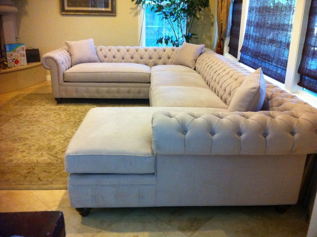 KENZIE STYLE - Chesterfield Custom Sectional Sofas traditional-family-room : chesterfield sofa sectional - Sectionals, Sofas & Couches