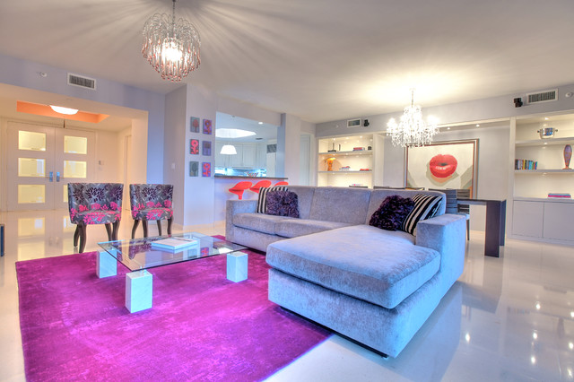 Key biscayne 611 contemporary living room miami by corners interior design llc - Secret keys contemporary living room design ...