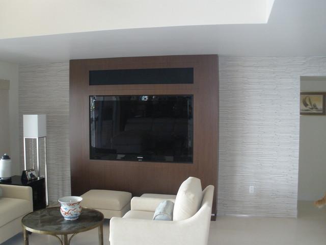 Key Largo Custom Home contemporary-family-room
