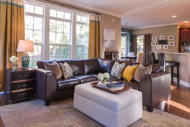Kid Friendly Family Room Transitional