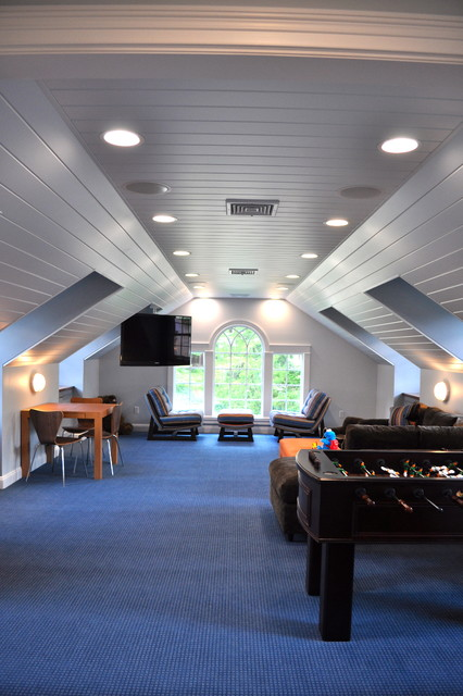 Kids Rec Room Traditional Family Room New York By