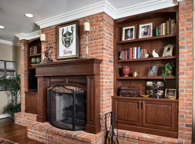 Kirby Kitchen, Bar, and Fireplace traditional-family-room