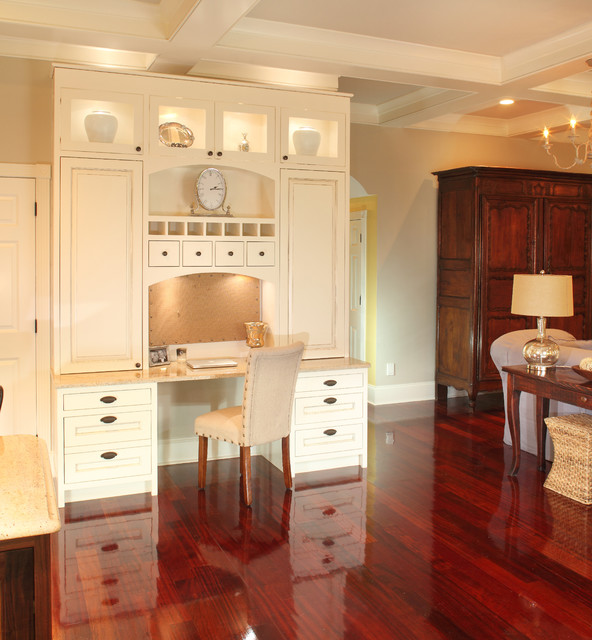 Kitchen Desk Built In - Traditional - Family Room - charleston - by ...