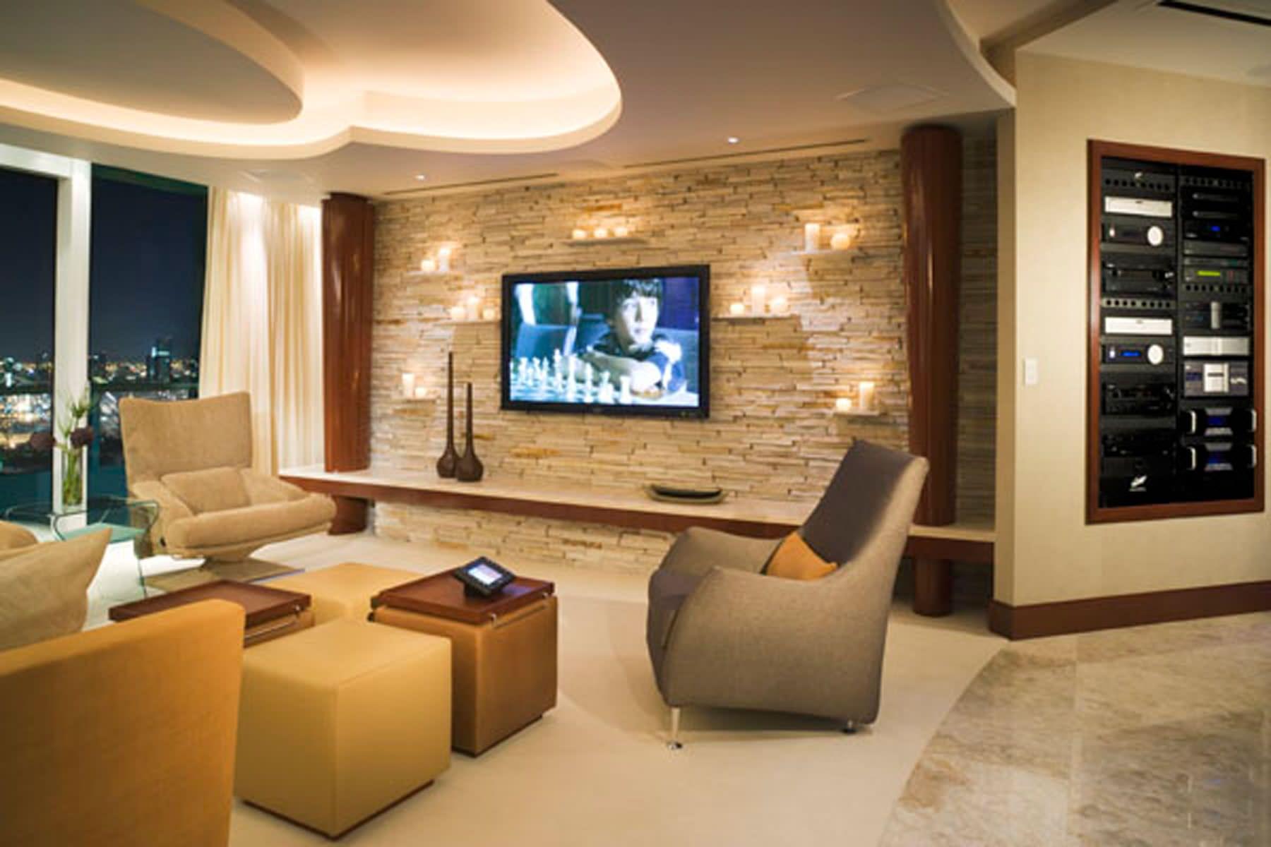 Entertainment Room Interior Design Houzz