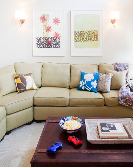 KMIDesign New England Family Home Sofa eclectic-family-room