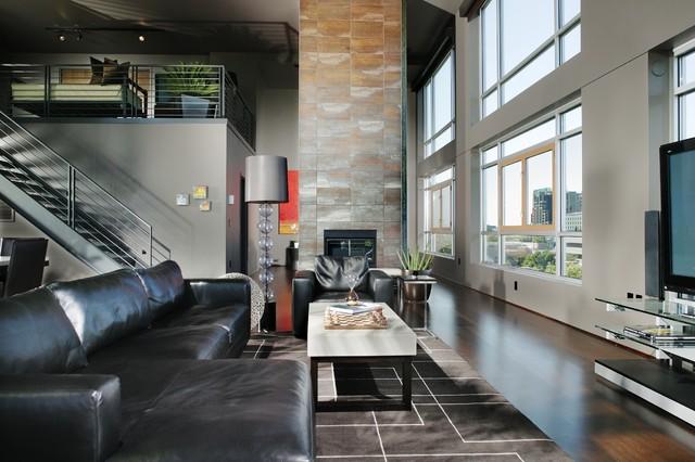 L Street Penthouse, Sacramento CA contemporary-family-room