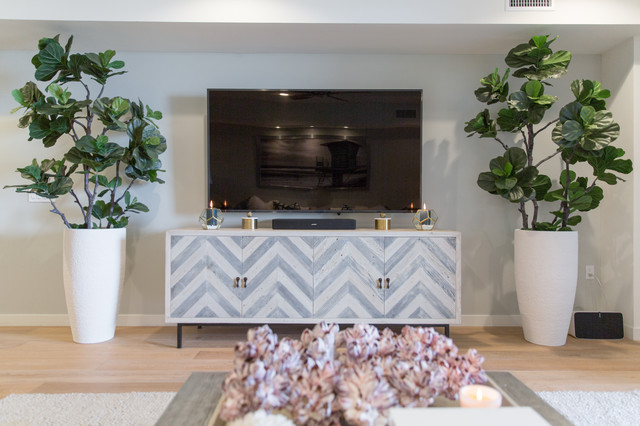 Inspiration for a beach style family room remodel in San Diego