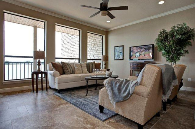 Lake Granbury Model Town home traditional-family-room