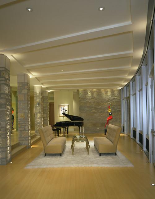 Lake Michigan House modern-family-room