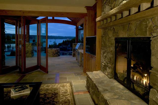Lake Sammamish Lodge traditional-family-room