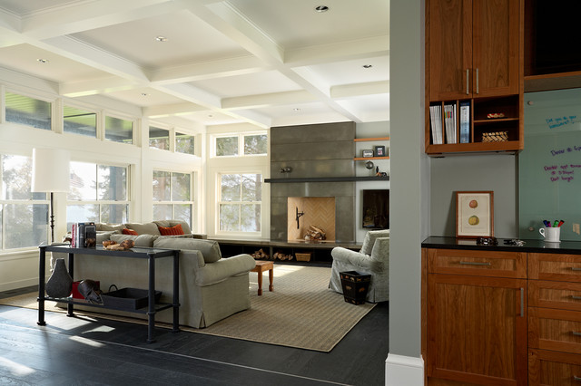 Lake Side Home Modern Family Room Minneapolis By