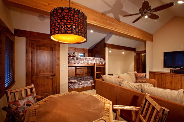 Lake Tahoe Sunnyside Cabin Rustic Family Room San