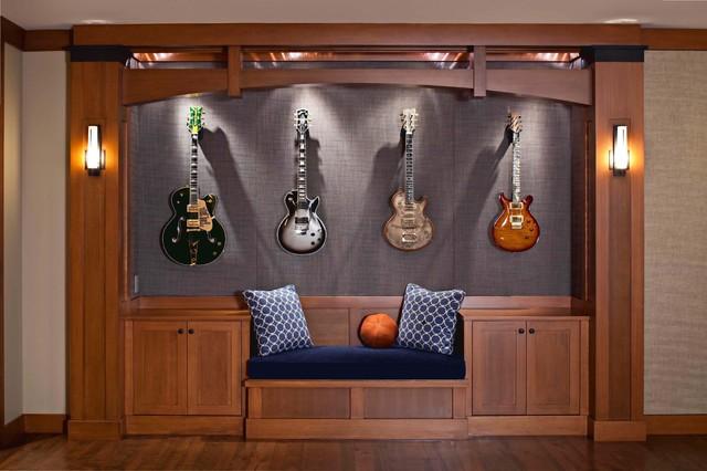 Lake Washington Man Cave Contemporary Family Room