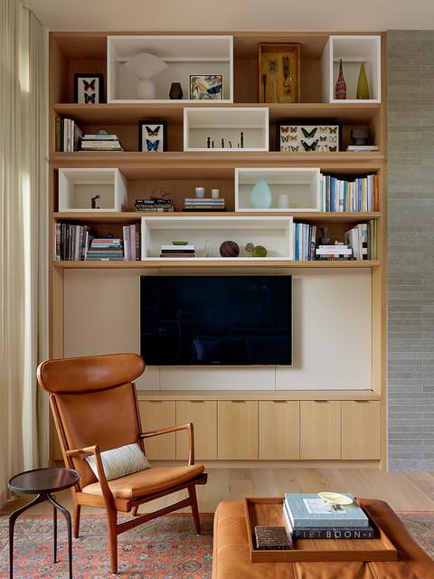Lakeside Drive Residence - Midcentury - Family Room - san francisco - by Lorissa Kimm Architect
