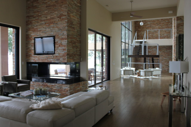 Lakeview Drive contemporary-family-room