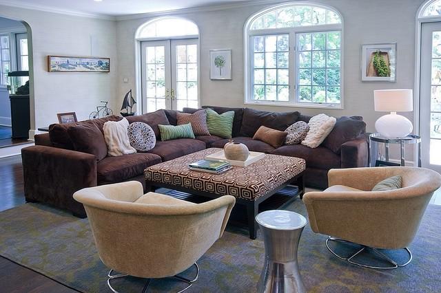 larchmont tudor transitional style beach house - klassisch modern ... - Wohnzimmer Klassisch Modern