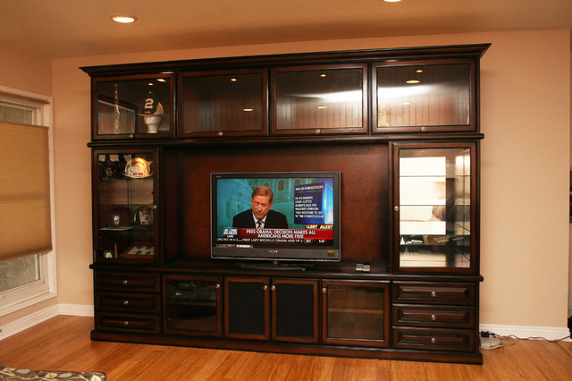 Large Entertainment Centers and Large Built-ins - Transitional - Family Room - orange county ...