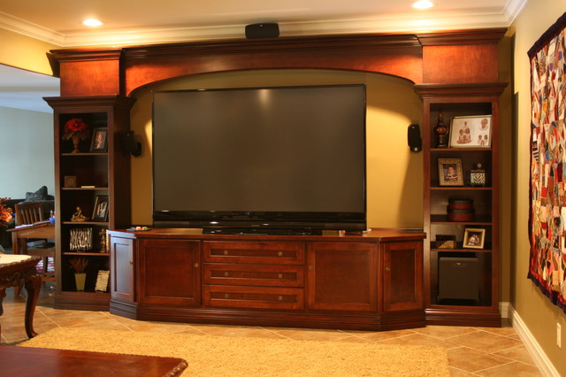 Large screen TV entertainment cabinets - Contemporary - Family Room - other metro - by ...