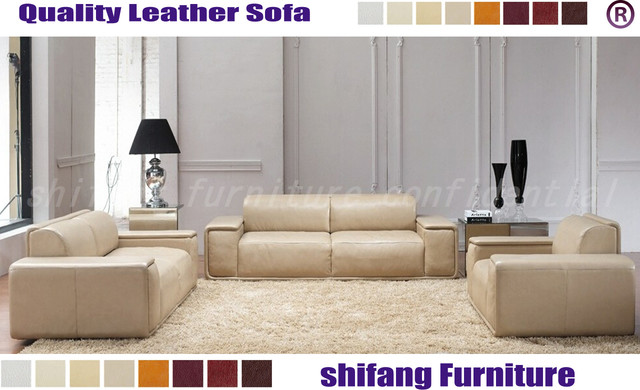 Large Seat Area Geniune Leather Sofa Seat For Lobby/salon/office  Modern Family