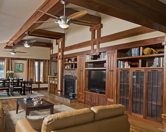 Craftsman Mission Indoor Ceiling Fan Home Design, Photos & Decor Ideas