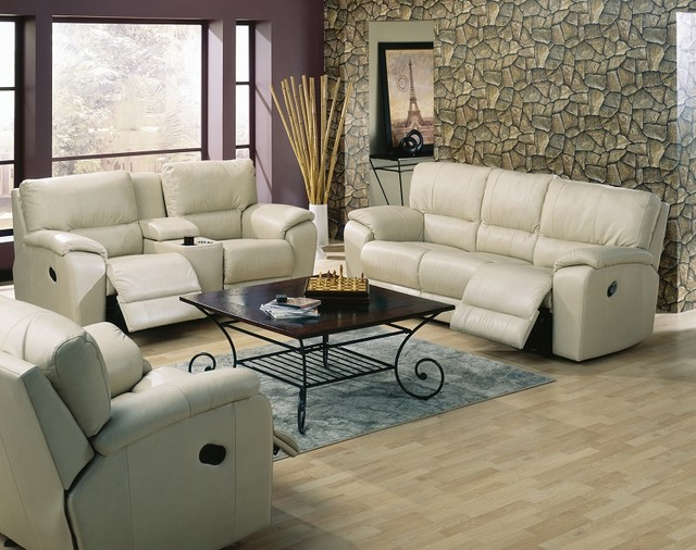 Leather Recliner Sofas & Reclining Sofas - Transitional - Family ...