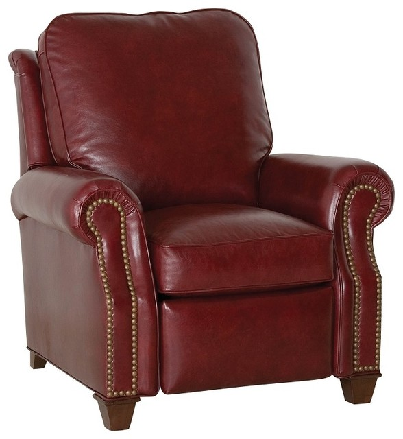 Red Leather Rocking Chair ~ Leather recliners swivel rocker