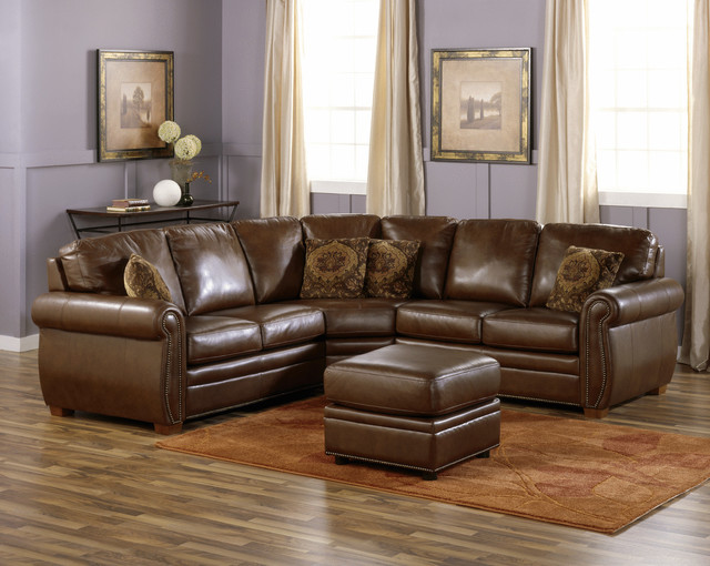 Leather sectionals for your living room or family room - Pictures of living rooms with sectionals ...