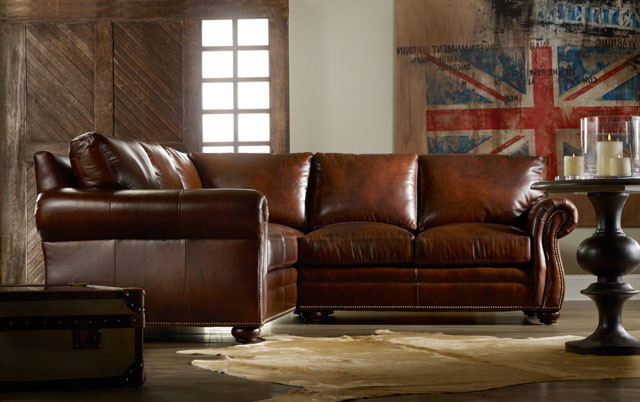 Leather Sectionals for your Living Room transitional family room san go