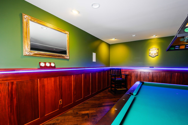 led trim molding accent lighting and recessed ceiling lights in basement traditional family room ceiling accent lighting