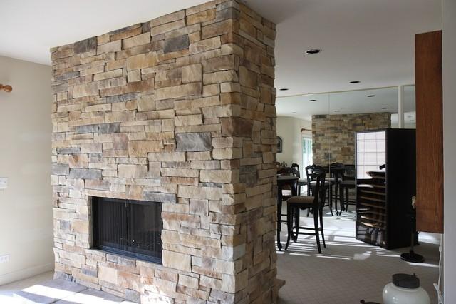 Ledge Stone Fireplace Album 3 Traditional Family Room