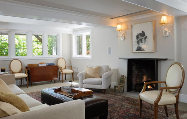 Leschi traditional family room seattle by bosworth for Daylight basement windows