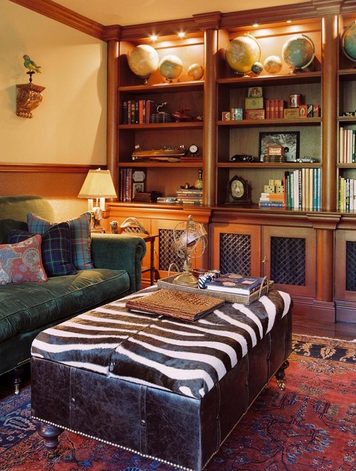 Library traditional family room