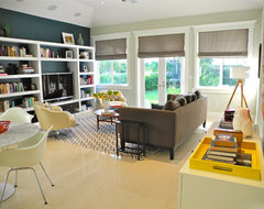 Library Style Family Room eclectic-family-room