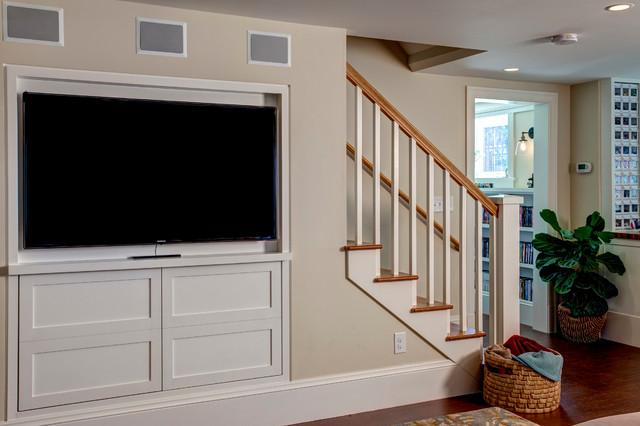 basement transitional family room - photo #26