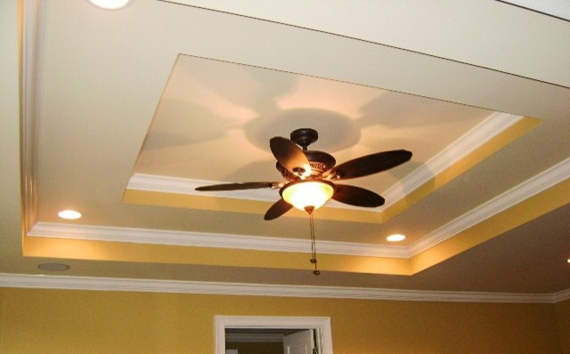Lighted Tray Ceiling - Traditional - Family Room - other metro - by Detail Cabinet Refacing