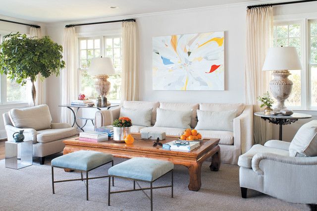 Lillian August Collection Transitional Family Room