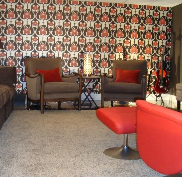 Limehouse home theatre contemporary-family-room