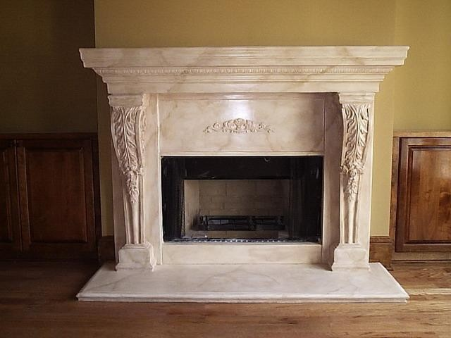 Limestone Fireplace Surrounds / Florecia - Mediterranean - Family Room - Atlanta - by Artistic Accents