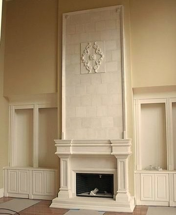 Limestone Fireplace Surrounds / Torremolinos - Mediterranean - Family Room - Atlanta - by Artistic Accents