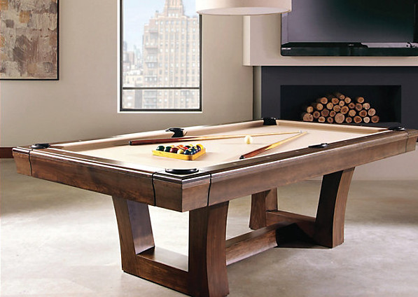 Lipscomb Pool Table Modern Contemporary Family Room Houston - Lipscomb pool table