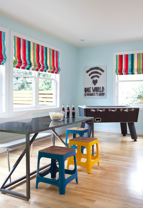 15 fun features for family rooms for Family game room ideas